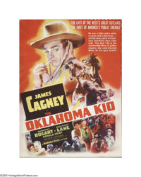 "The Oklahoma Kid (Warner Brothers, 1939). Herald (8.5"" X 11""). This movie starred James Cagney in his first We..."