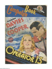 Operator 13 (MGM, 1934). Pressbook (Multiple Pages). Offered here is a vintage, theater-used pressbook for this romantic...