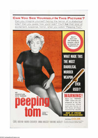 "Peeping Tom (Anglo Amalgamated, 1960). One Sheet (27"" X 41""). Offered here is a vintage, theater-used U.S. one..."