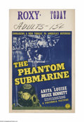 "Movie Posters:Adventure, The Phantom Submarine (Columbia, 1940). Window Card (14"" X 22"").Offered here is a vintage, theater-used window card for thi..."
