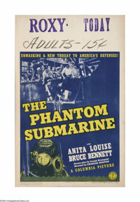 "The Phantom Submarine (Columbia, 1940). Window Card (14"" X 22""). Offered here is a vintage, theater-used windo..."
