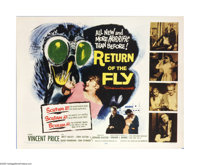 "Return of the Fly (20th Century Fox, 1959). Half Sheet (22"" X 28""). The fly is back for ""new and more hor..."
