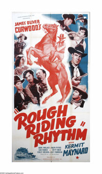 "Rough Riding Rhythm (Ambassador Pictures, 1937). Three Sheet (41"" X 81""). Offered here is a vintage, theater-u..."