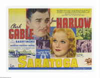 """Saratoga (MGM, 1937). Herald (9"""" X 12"""" Unfolded). Offered here is a vintage, theater-used poster for this roma..."""