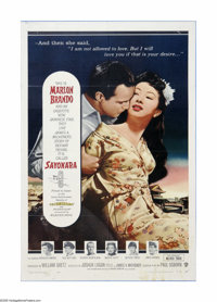 "Sayonara (Warner Brothers, 1957). One Sheet (27"" X 41""). Offered here is a vintage, theater-used poster for th..."