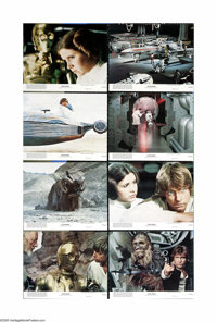 "Star Wars (20th Century Fox, 1977). Mini-Lobby Card Set of 8 (8"" X 10""). George Lucas's mythological sci-fi ad..."