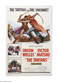 "Movie Posters:Action, The Tartars (MGM, 1961). One Sheet (27"" X 41""). Offered here is a vintage, theater-used poster for this adventure drama dire..."