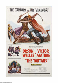 "The Tartars (MGM, 1961). One Sheet (27"" X 41""). Offered here is a vintage, theater-used poster for this advent..."