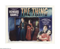 "Movie Posters:Science Fiction, The Thing From Another World (RKO, 1951). Lobby Card (11"" X 14""). Producer Howard Hawks' strong and suspenseful film is not ..."