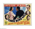 """Movie Posters:Comedy, Three Blind Mice (20th Century Fox, 1938). Title Lobby Card (11"""" X 14""""). Offered here is a vintage, theater-used lobby card ..."""
