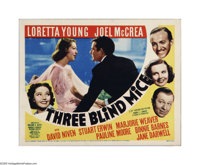 """Three Blind Mice (20th Century Fox, 1938). Title Lobby Card (11"""" X 14""""). Offered here is a vintage, theater-us..."""