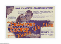 """Today We Live (MGM, 1933). Herald (5 3/4"""" X 8 1/2"""" Unfolded). Offered here is a vintage, theater-used Herald f..."""