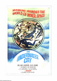 """The Underwater City (Columbia, 1961). One Sheet (27"""" X 41""""). Offered here is a vintage, theater-used poster fo..."""