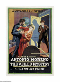 "The Veiled Mystery (Vitagraph, 1920). One Sheet (27"" X 41""). Offered here is a vintage, theater-used poster fo..."