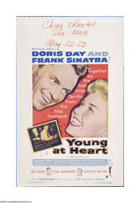 "Young at Heart (Warner Brothers, 1954). Window Card (14"" X 22""). Offered here is a vintage, theater-used poste..."