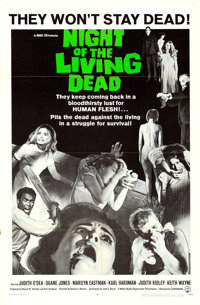 """Night of the Living Dead (Continental, 1968). One Sheet (27"""" X 41"""")"""