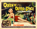"Movie Posters:Science Fiction, Queen of Outer Space (Allied Artists, 1958). Half Sheet (22"" X 28"")Style B.. ..."