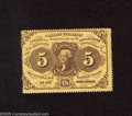 Fractional Currency:First Issue, Fr. 1228 5c First Issue Choice Crisp Uncirculated. A very pleasing perforated fractional with deep yellow hue and solid perf...