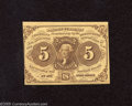 Fractional Currency:First Issue, Fr. 1230 5c First Issue Crisp Uncirculated. A Choice CU note in every respect but for the tightly trimmed left margin....