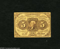Fractional Currency:First Issue, Fr. 1230 5c First Issue Very Fine. A solid Very Fine note with decent color for the grade and several light folds to its cre...