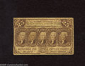 Fractional Currency:First Issue, Fr. 1282 25c First Issue Fine. A well circulated example of this very scarce No Monogram variety that is well margined and t...