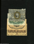 Fractional Currency:First Issue, Specimen Bonanza. Fr. 1244SP 10c Second Issue Face Narrow Margin CU Fr. 1244SP 10c Second Issue Back Narrow Margin CU Fr.... (4 notes)