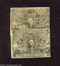 Fractional Currency:Second Issue, Fr. 1232 and Fr. 1233 5c Second Issue Good. An attractive pair for the grade that is problem free but very heavily circulate... (2 notes)