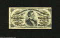 Fractional Currency:Third Issue, Fr. 1297 25c Third Issue Very Fine. Although there aren't many actual folds visible the paper is too crinkly to justify a hi...