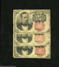 Fractional Currency:Fifth Issue, Fr. 1265 10c Fifth Issue Two Examples Good, VG.Fr. 1266 10c Fifth Issue Good. The Long Key variety has a solidly inked k... (3 notes)