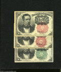 Fractional Currency:Fifth Issue, Fr. 1264 10c Fifth Issue About New, pinholes Fr. 1265 10c FifthIssue About New, toning Fr. 1266 10c Fifth Issue VF.... (3 notes)