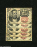 Fractional Currency:Fifth Issue, Five Fr. 1266 10c Fifth Issue Fine-Very Fine. A nice quintet ofshort key Merediths which are crisp but a few with minor dis... (5notes)