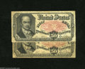 "Fractional Currency:Fifth Issue, Pair of Fr. 1381 50c Fifth Issue Fine-Very Fine. A pair of ""BobHope"" notes which are moderately circulated but problem free... (2notes)"
