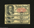 Fractional Currency:Fifth Issue, Fr. 1381 50c Fifth Issue Three Examples Very Good or Better. ... (3notes)