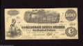 Confederate Notes:1862 Issues, T40 $100 1862. An edge nick and a few diagonal folds are found onthis C-note. Very Fine-Extremely Fine....