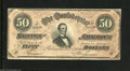 Confederate Notes:1864 Issues, T66 $50 1864. This 3 Series $50 is free of edge tears and pinholes. Extremely Fine....