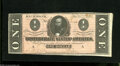 Confederate Notes:1864 Issues, T71 $1 1864. A large right-hand selvage is found on this $1. Extremely Fine....
