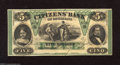 Obsoletes By State:Louisiana, New Orleans, LA- Citizens' Bank of Louisiana $5 Oct. 9, 1860 President Millard Fillmore's portrait is found on this well pr...