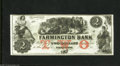 Obsoletes By State:New Hampshire, Farmington, NH- Farmington Bank $2 18__ This bank was in operation from 1854 into the 1860s. Choice Crisp Uncirculated....