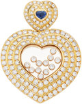 Estate Jewelry:Pendants and Lockets, Diamond, Sapphire, Gold Pendant, Chopard . ...