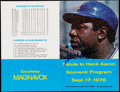 Baseball Collectibles:Programs, 1976 Hank Aaron Signed Program from Final Season. . ...