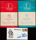 Olympic Collectibles:Autographs, Olympic Lot with Many Items from 1948 London Games.. ...