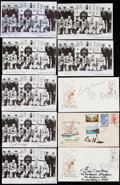Olympic Collectibles:Autographs, Olympic Signed Lot with Seven Members of 1956 US Basketball Team.. ...