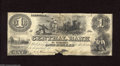 Obsoletes By State:Tennessee, Nashville, TN- Central Bank $1 Aug. 1, 1855 Slaves work the sugar cane field on this scarce note that has edge notches and ...