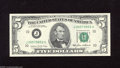 Error Notes:Ink Smears, Fr. 1978-J $5 1985 Federal Reserve Note. Gem Crisp Uncirculated.This great error which affects the back comes complete wit...