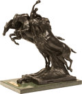 Decorative Arts, Continental:Other , A Gran Premio D'Italia Vetture Leggere Patinated Bronze andMarble Racing Trophy. 21-1/4 h x 17-3/4 w x 10-3/4 d...