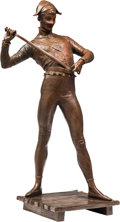 Fine Art - Sculpture, European, After Paul Dubois (French, 1829-1905). Harlequin. Bronze with brown patina. 33 inches (83.8 cm) high. Inscribed on base:...