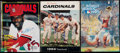Baseball Collectibles:Publications, St. Louis Cardinals Signed Publication Lot of 3.. ...