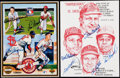 Autographs:Photos, St. Louis Cardinals Multi-Signed Image Lot of 2.. ...