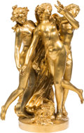 Other, A Large French Gilt Bronze Figural Group After Clodion (Claude Michel): The Three Graces, early 20th century. Marks:...