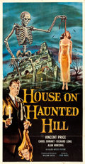"""Movie Posters:Horror, House on Haunted Hill (Allied Artists, 1959). Three Sheet (41"""" X79"""") Reynold Brown Artwork.. ..."""